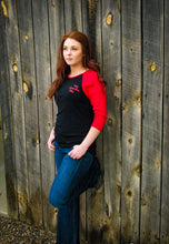 Load image into Gallery viewer, Red/Black Baseball Tee