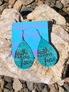 Faith Above Fear Earrings