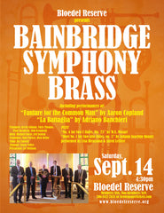 Bainbridge Symphony Orchestra Brass Ensemble and Flute Duo at Bloedel Reserve