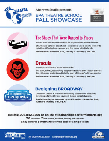 BPA THEATRE SCHOOL FALL SHOWCASE