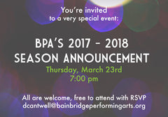 BPA 2017 – 2018 Season Announcement