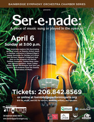 Ser•e•nade: A piece of music sung or played in the open air