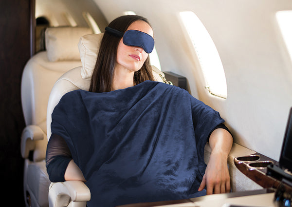 The Softest Travel Blanket and Eye Mask Set