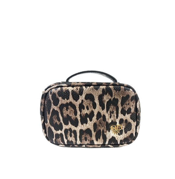 NEW Getaway Mini Jewelry Case - Bronze Leopard