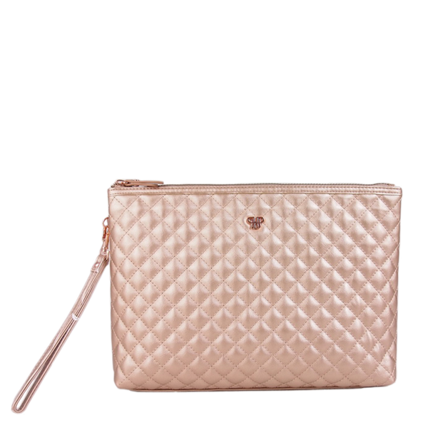 NEW Getaway Litt Large Makeup Case - Copper Quilted