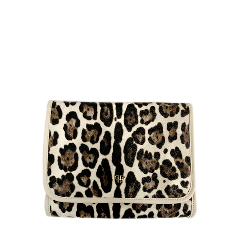 NEW Getaway Toiletry Case - Cream Leopard