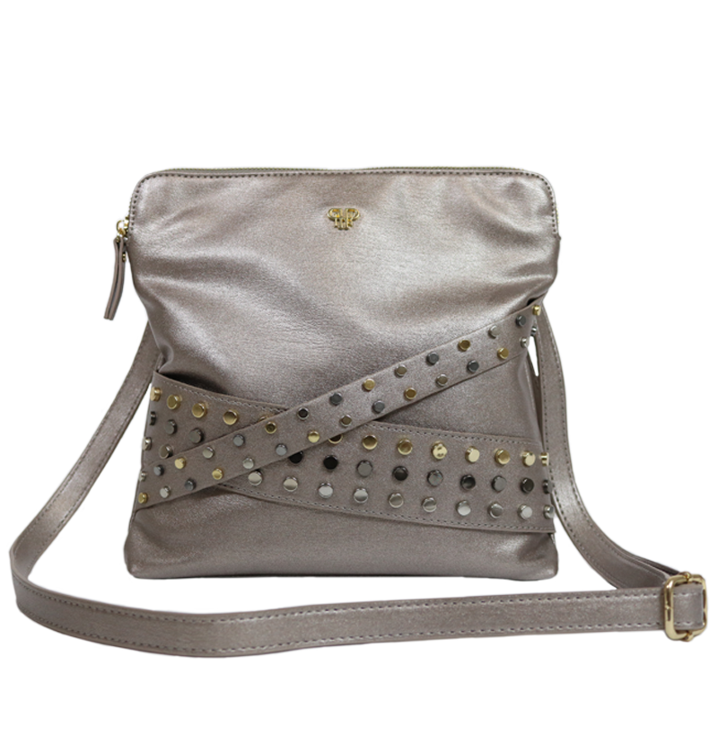 Litt Crossbody Bag - Studded Pewter