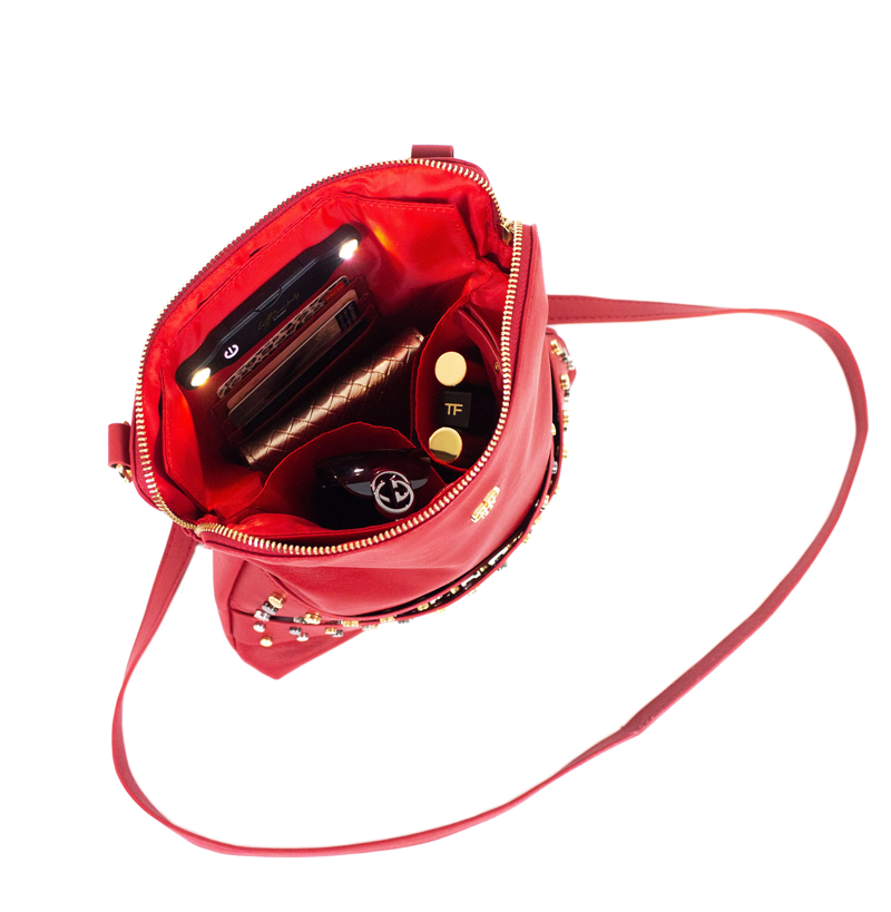 Litt Crossbody Bag - Studded Red