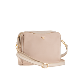 Nylon Litt Crossbody Bag - Nude/Gold