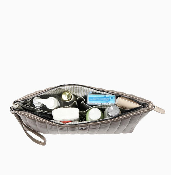 Getaway Large Makeup Case - Pewter