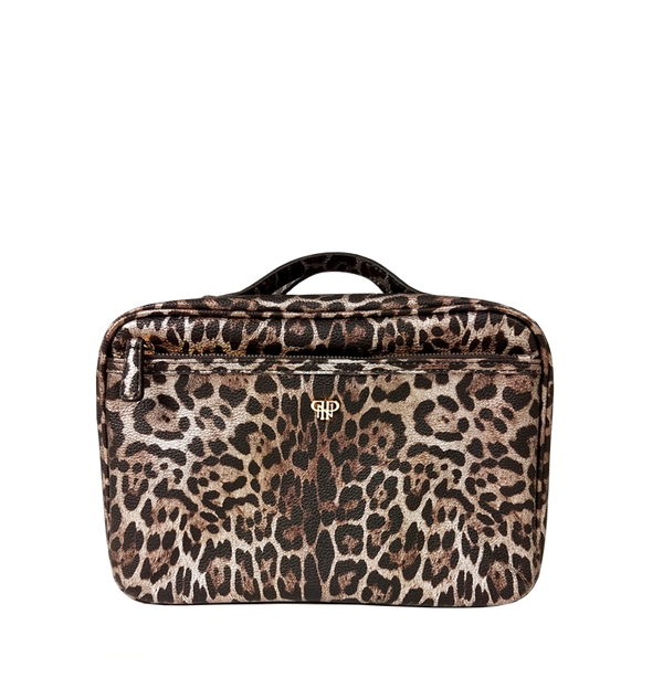 NEW Getaway Liea Toiletry Case - Bronze Leopard