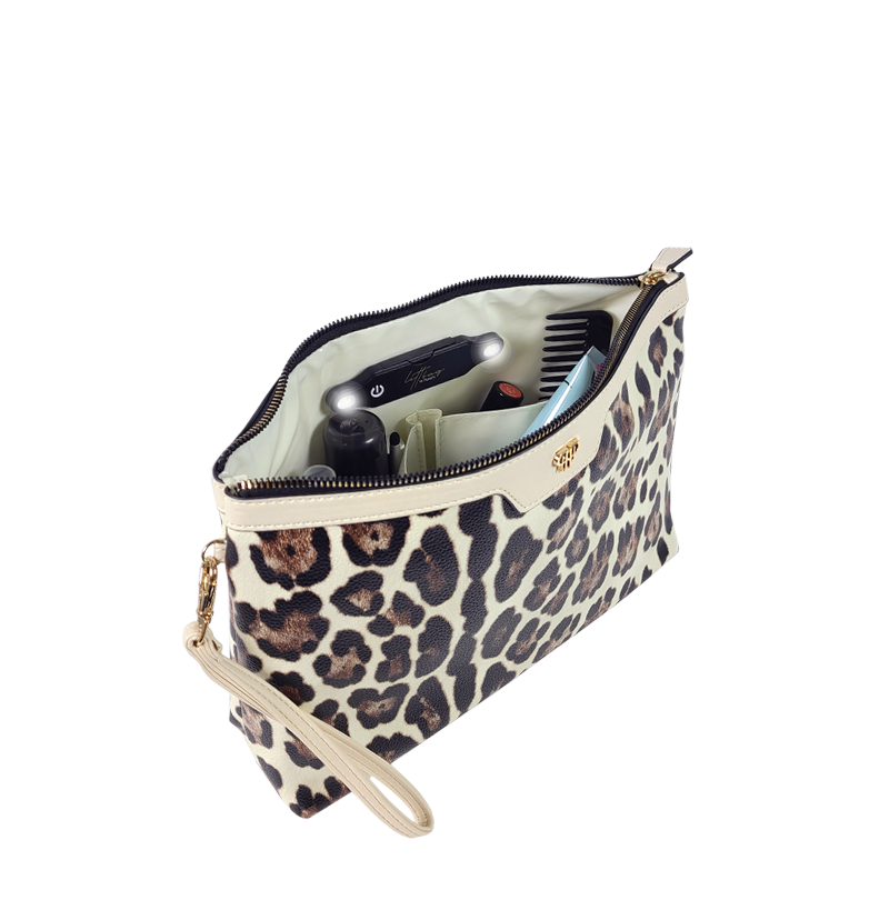 NEW Getaway Litt Large Makeup Case - Cream Leopard