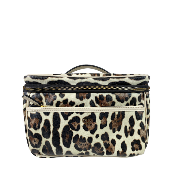 NEW Getaway Classic Train Case - Cream Leopard