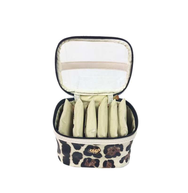 NEW Getaway Jewelry Case - Cream Leopard