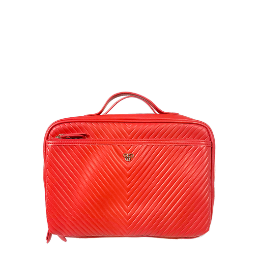 NEW Getaway Liea Toiletry Case - Red/Polka Dot Liner