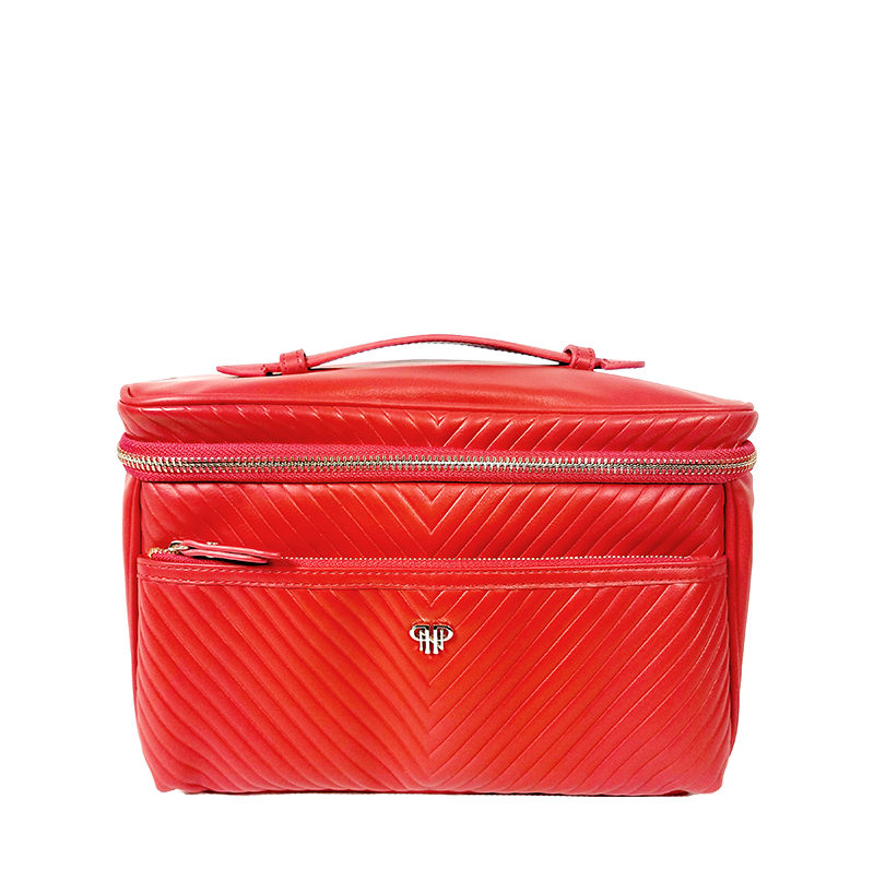 NEW Getaway Classic Train Case - Red/Polka Dot Liner