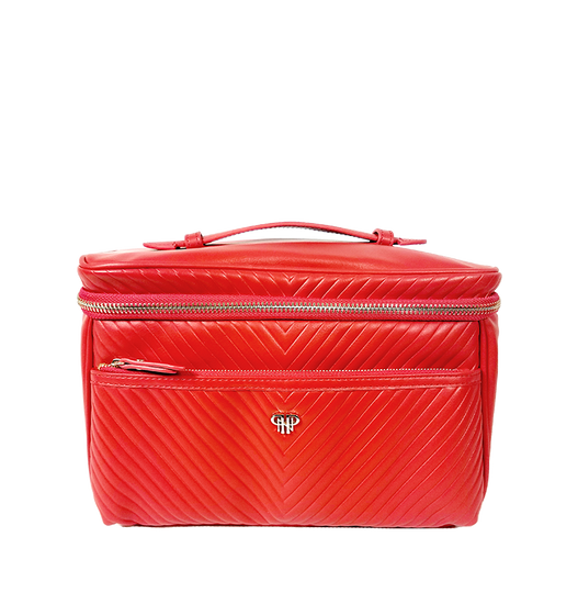 Getaway Classic Train Case - Red/Polka Dot Liner