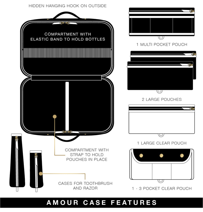 Amour Travel Case - Lotus