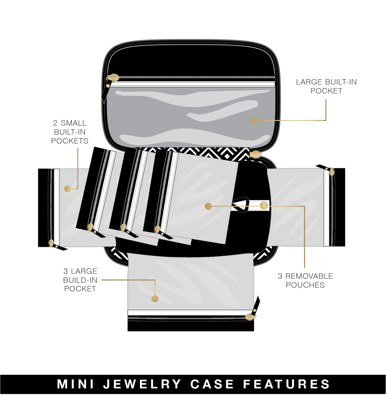 Tiara Mini Jewelry Case - Timeless Quilted