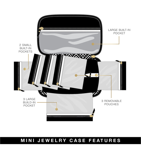Tiara Mini Jewelry Case - French Rose