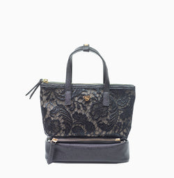 Adira Makeup Case - Black Lace