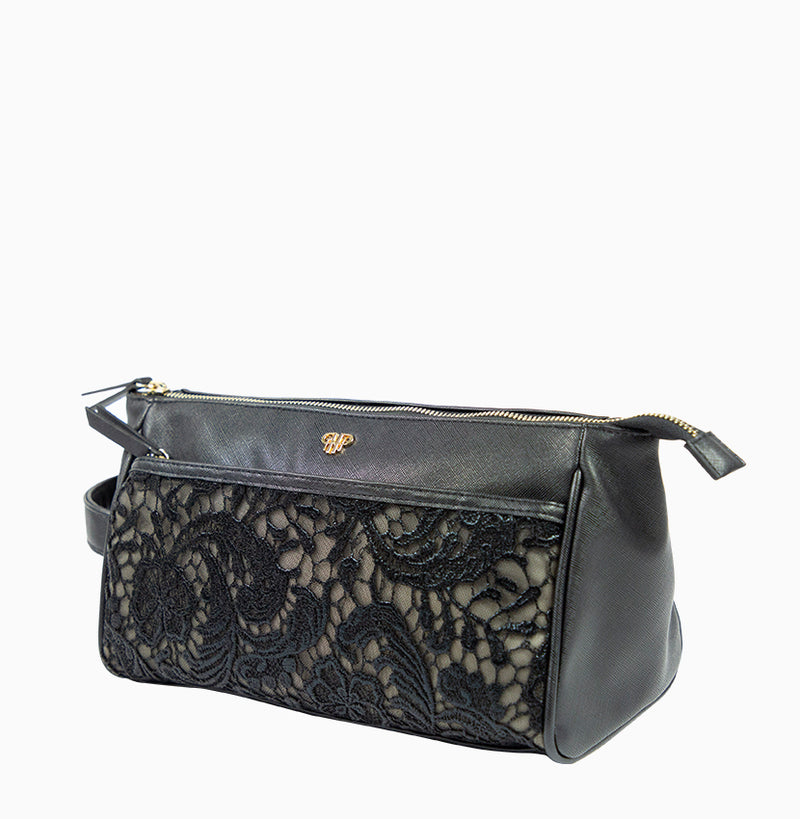 Zora Travel Case - Black Lace