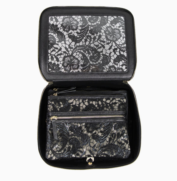 Ava Travel Case - Black Lace
