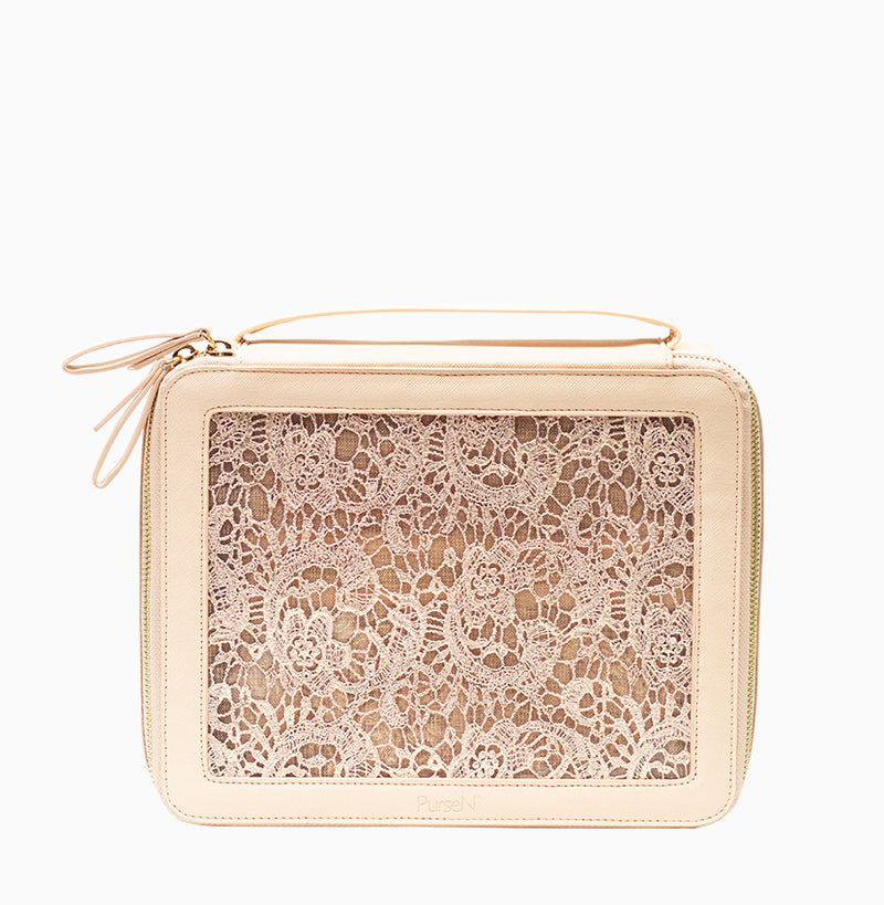 Ava Travel Case - Blush Lace
