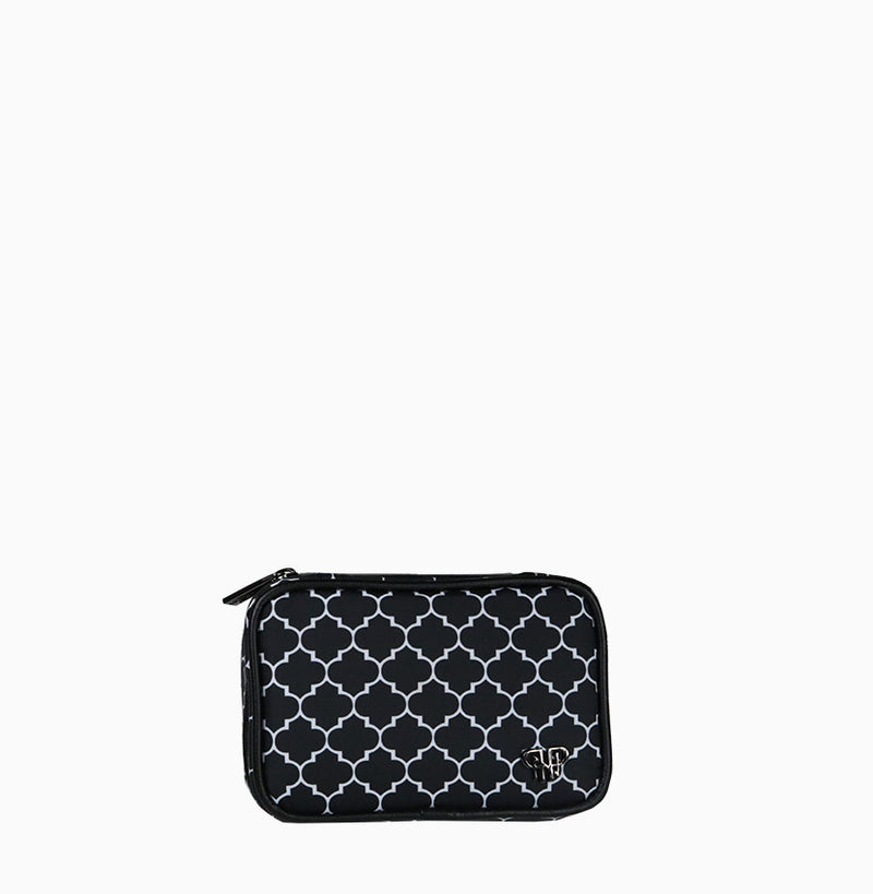 Tiara Mini Jewelry Case - Quatrefoil