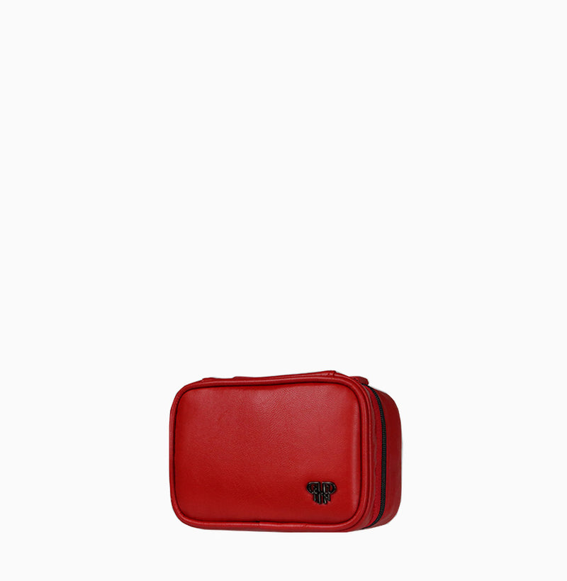 Tiara Mini Jewelry Case - Red/Stripe