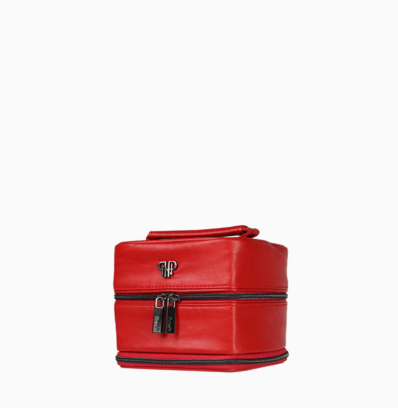 Tiara Weekender Jewelry Case - Red/Stripe