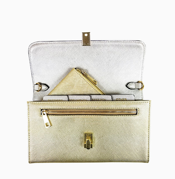 Traveler Clutch - Gold