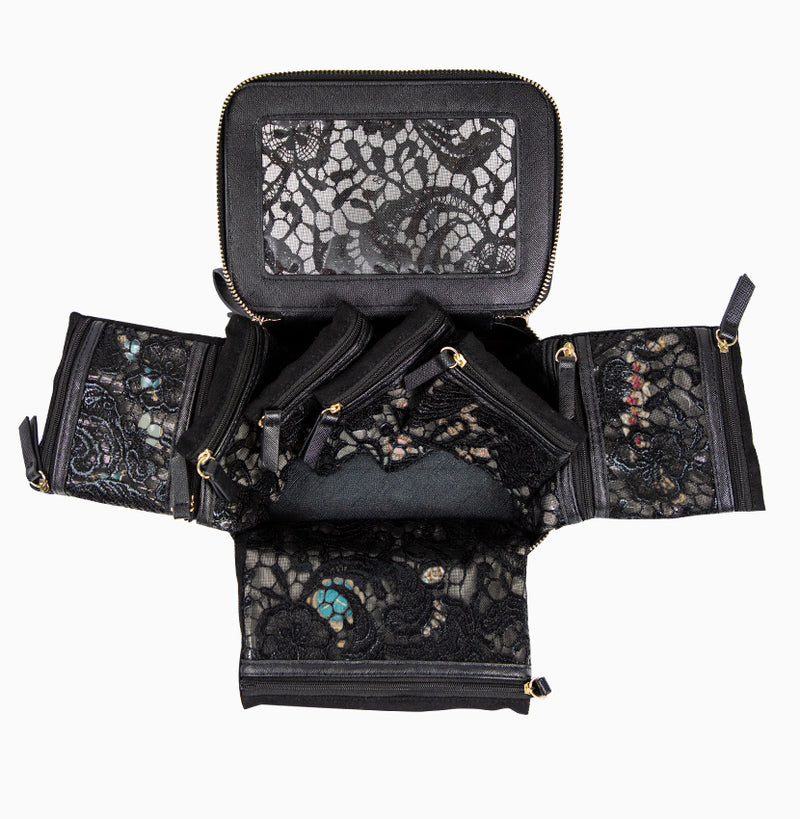 Voyager Jewelry Case - Black Lace