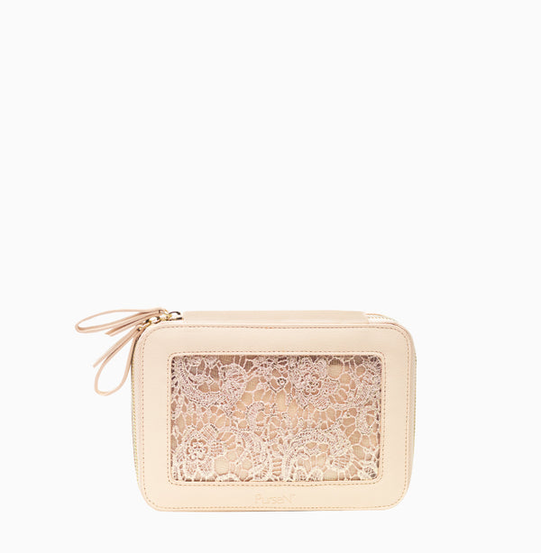 Voyager Jewelry Case - Blush Lace