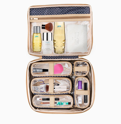 Diva Makeup Case - Blue Dunes