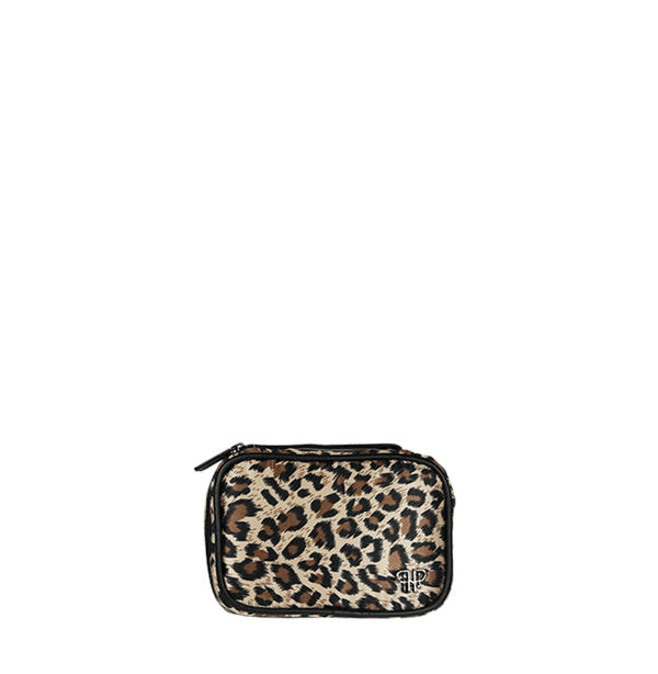 Tiara Mini Jewelry Case - Leopard/Black