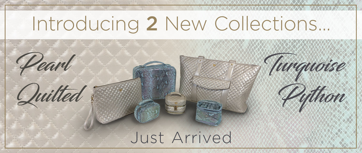 Introducing 2 New Collections, Pearl Quilted and Turquoise Python