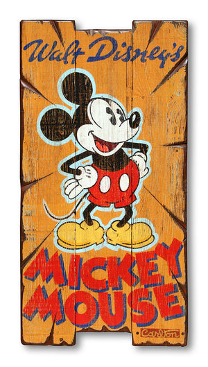 Mickey Pie Eyed Poster -  Disney Original