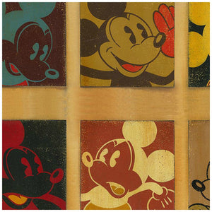 6 Up Mickey by Trevor Carlton  A collage of 6 different faces of Mickey - closeup