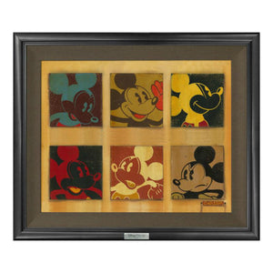6 Up Mickey by Trevor Carlton  A collage of 6 different faces of Mickey.