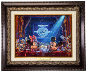 Minnie Mouse, Mickey Mouse, Steamboat Willie, has invited some of their most treasured friends to celebrate the film's 90th anniversary - Aged Bronze Frame
