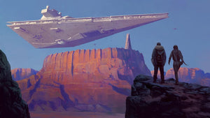 The Imperial Star Destroyer looms by the desert Holy City lie the ancient Catacombs of Cadera.