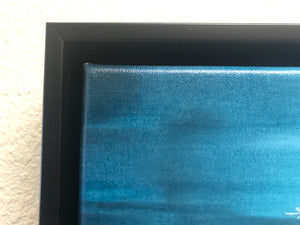 Framed in Black Floater Frame - Sample