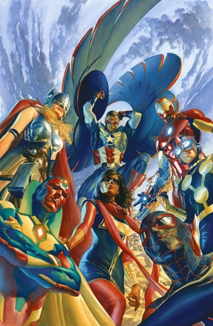 Gathering of the Avengers, Iron-Man, Captain America, Spider-Man,  Thor and more