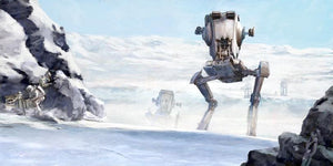 The Imperial Walker strike on the battle of Endor.