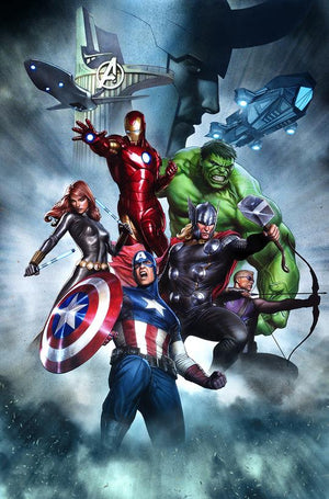 Superheroes - Captain America, Black Widow, Loki, Hawkeye, Hulk and Iron Man