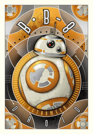 A poster style representing the BB-8 Astromech Droid - Canvas