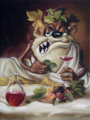 Taz portrays the Greek God of Wine & the Grape Harvest