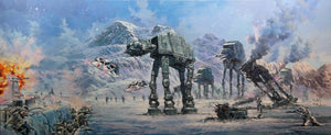 AT-ATs drove the Empire's assault on the Rebel base during the Battle of Hoth.
