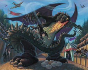 Harry Potter battles with Black Dragon